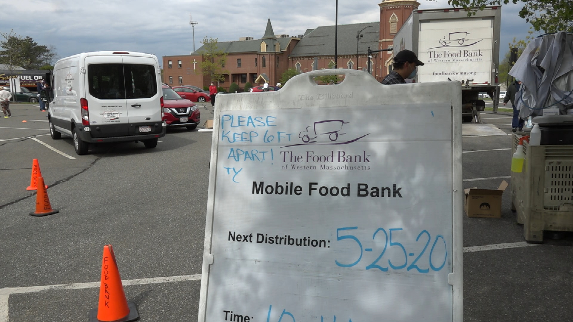 WATCH: Follow a Food Banks of Western MA mobile food bank to see how they're handing the increasing demand for food assistance during the pandemic.