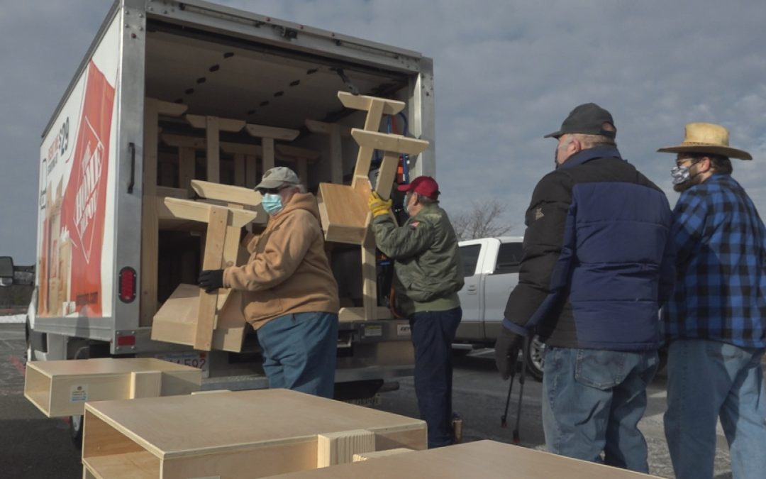 Agawam Lions Club Builds Free Desks for Remote Learning Students