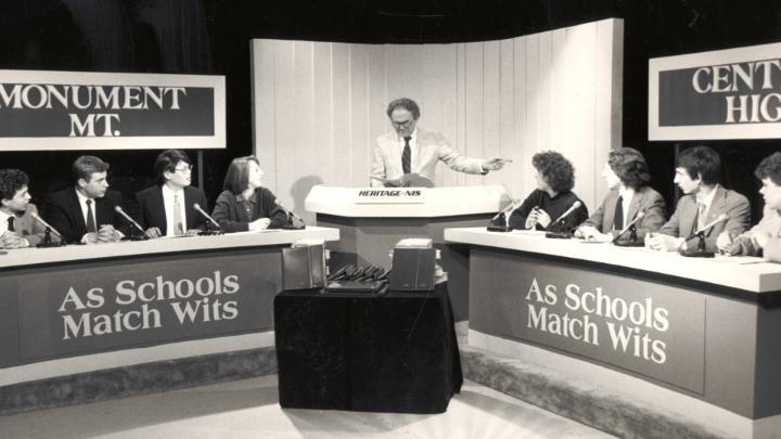 """Go behind the scenes and see how WGBY and Westfield State University produce local high school quiz show """"As Schools Match Wits."""""""