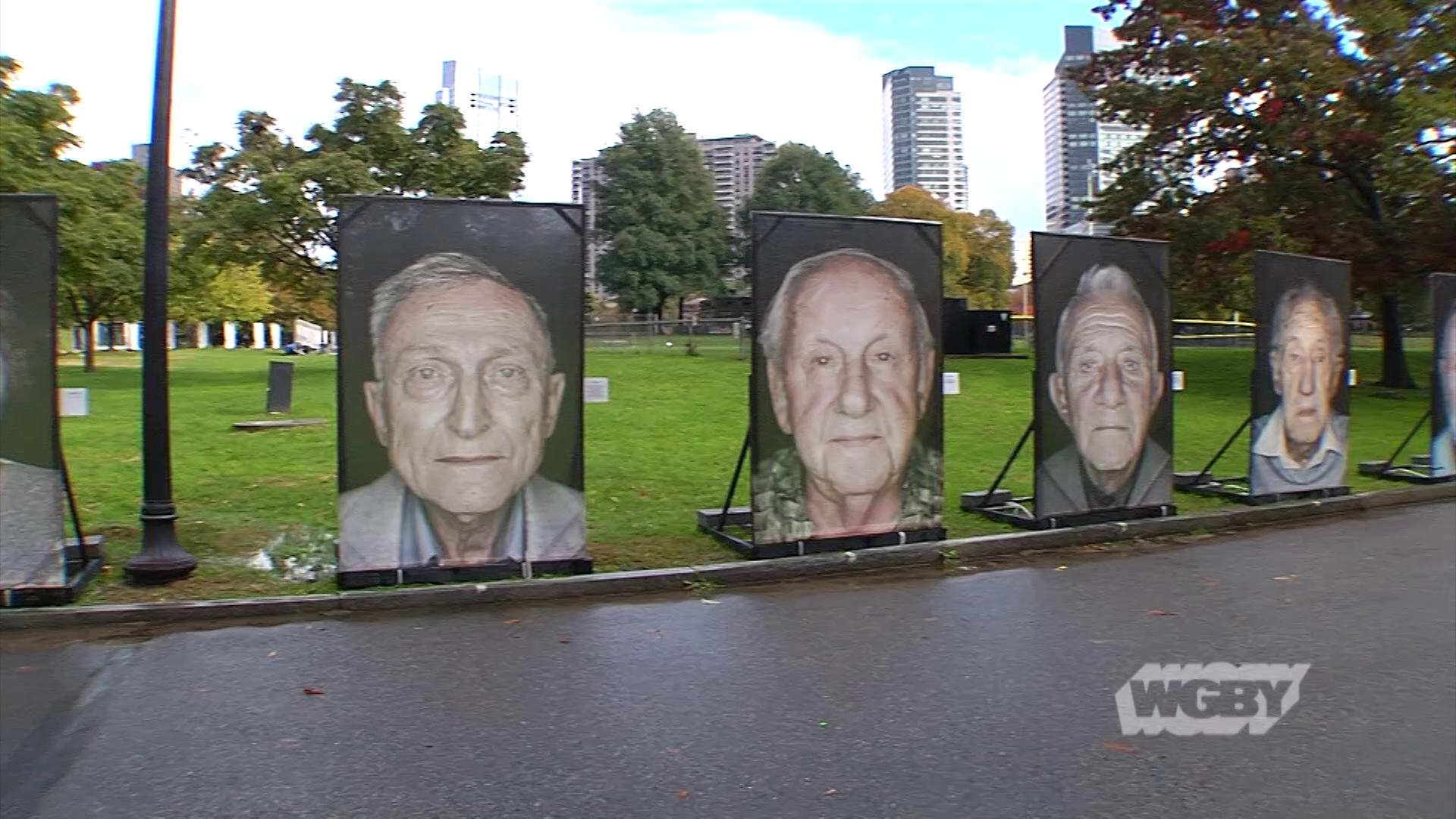 Italian-German photographer Luigi Toscano's Holocaust memorial on the Boston Common tells the harrowing stories of Holocaust survivors through public art.
