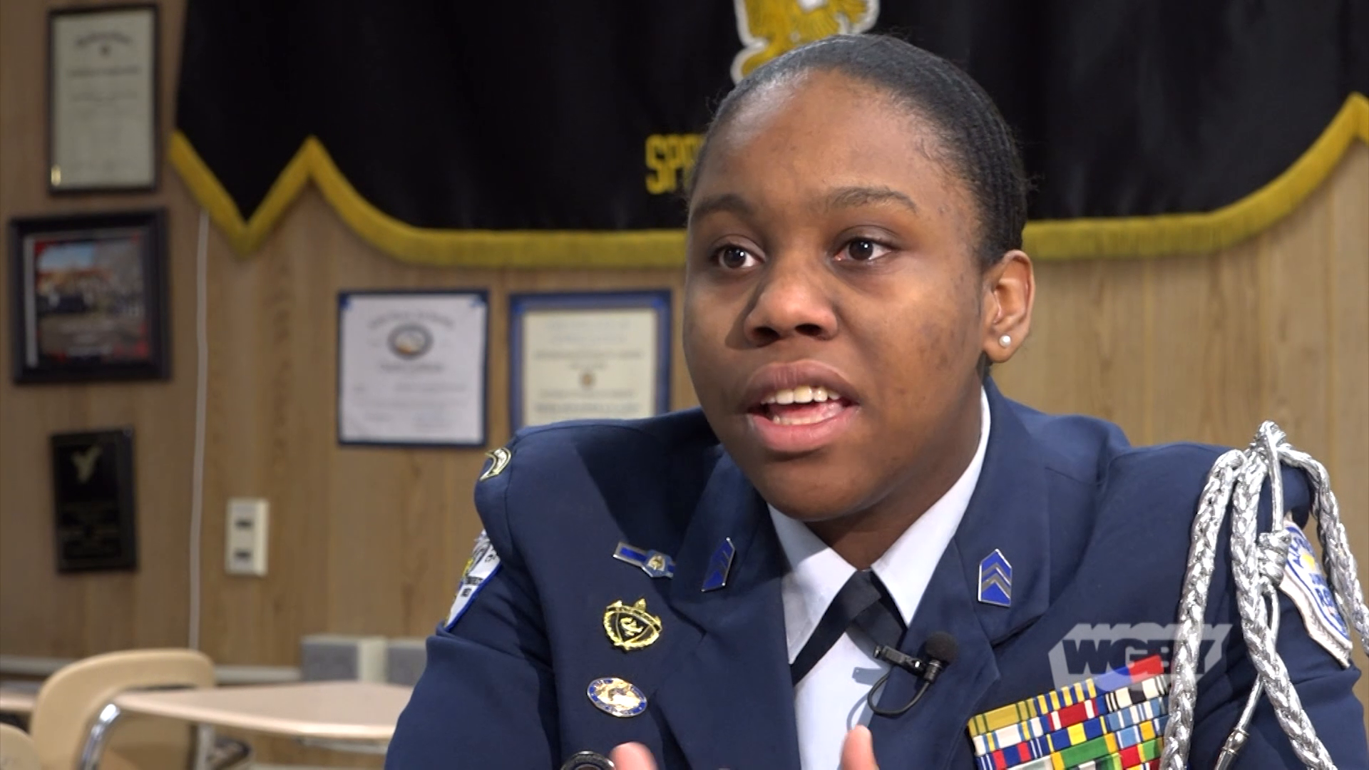 WATCH: Meet Central High Senior Camryn Kynard, who made history as the first African American female commander of the school's ROTC program.