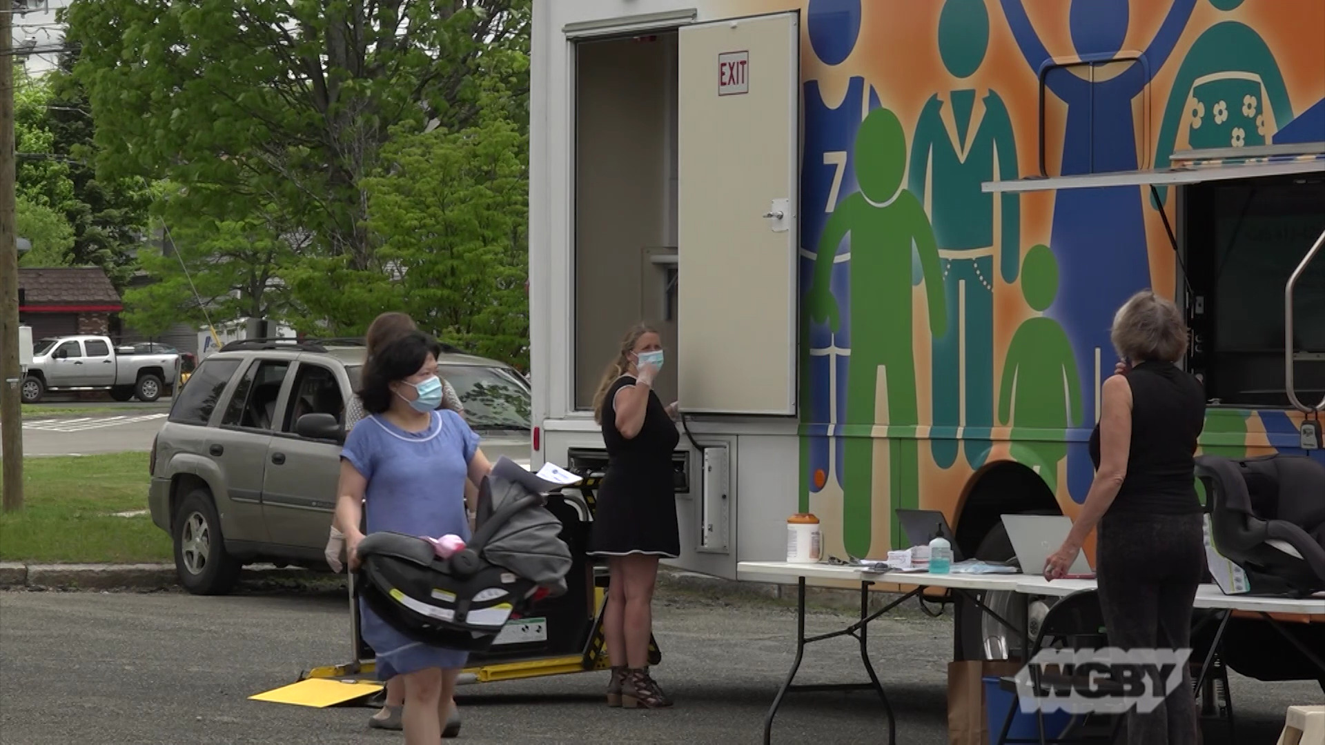 WATCH: To keep families from having to visit hospitals during the pandemic, Community Health Programs has taken its well-baby check-ups mobile.