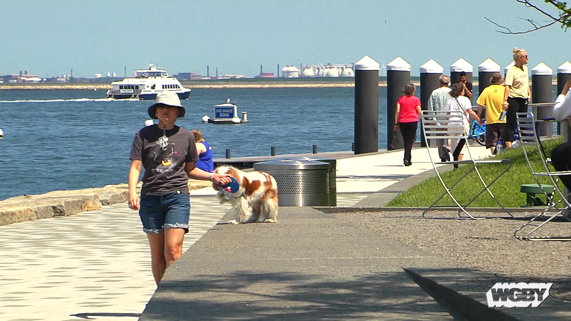 Thanks to a Massachusetts Executive Office of Energy and Environmental Affairs grant, the city of Boston is exploring ways to address climate change. One idea includes building a barrier wall in the Boston Harbor to protect the city against rising sea levels. Connecting Point's Stephanie Leydon reports.
