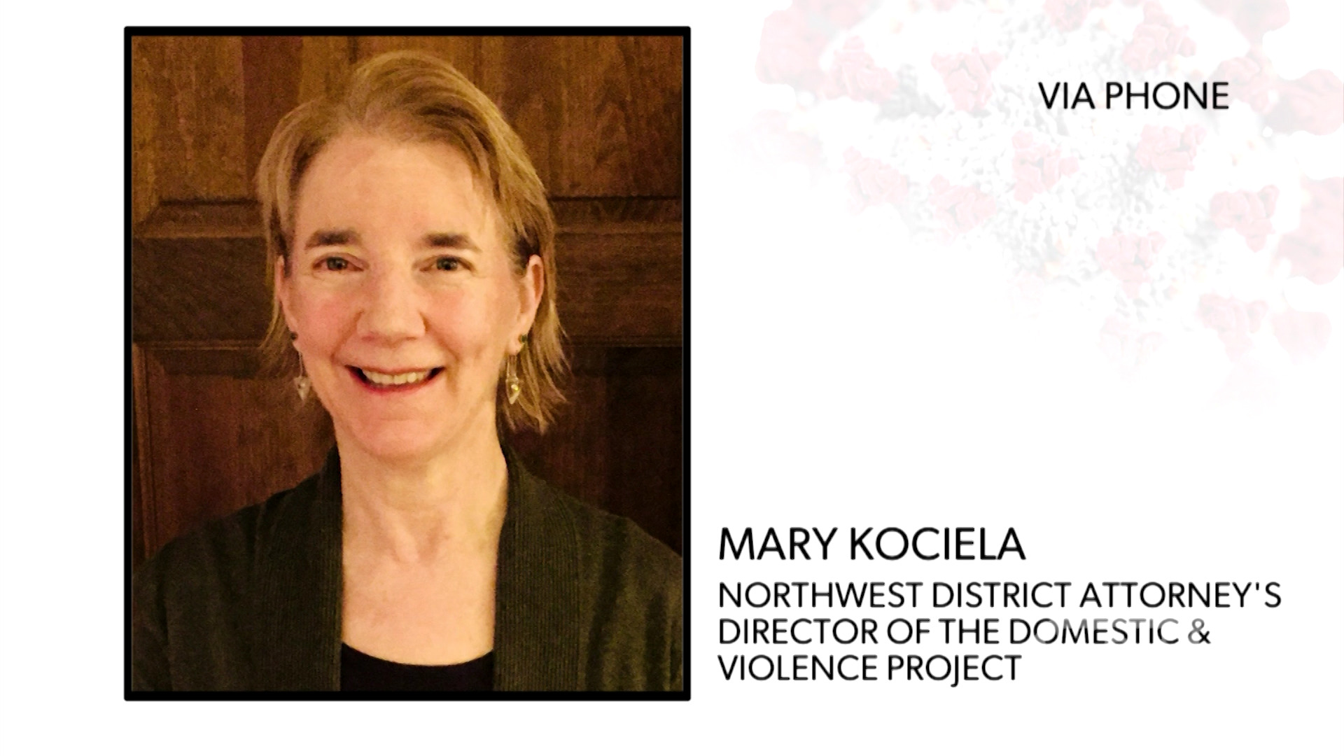 Northwest DA's Domestic Violence Project's Mary Kociela explains that emergency restraining orders are still being processed during the coronavirus outbreak