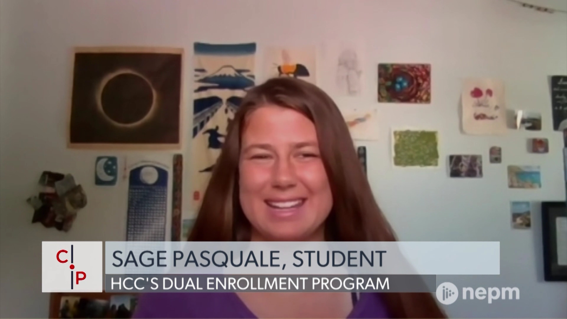 Sage Pasquale shares how she was able to graduate with a high school diploma & an associate's degree thanks to Holyoke Community College's Dual Enrollment program.