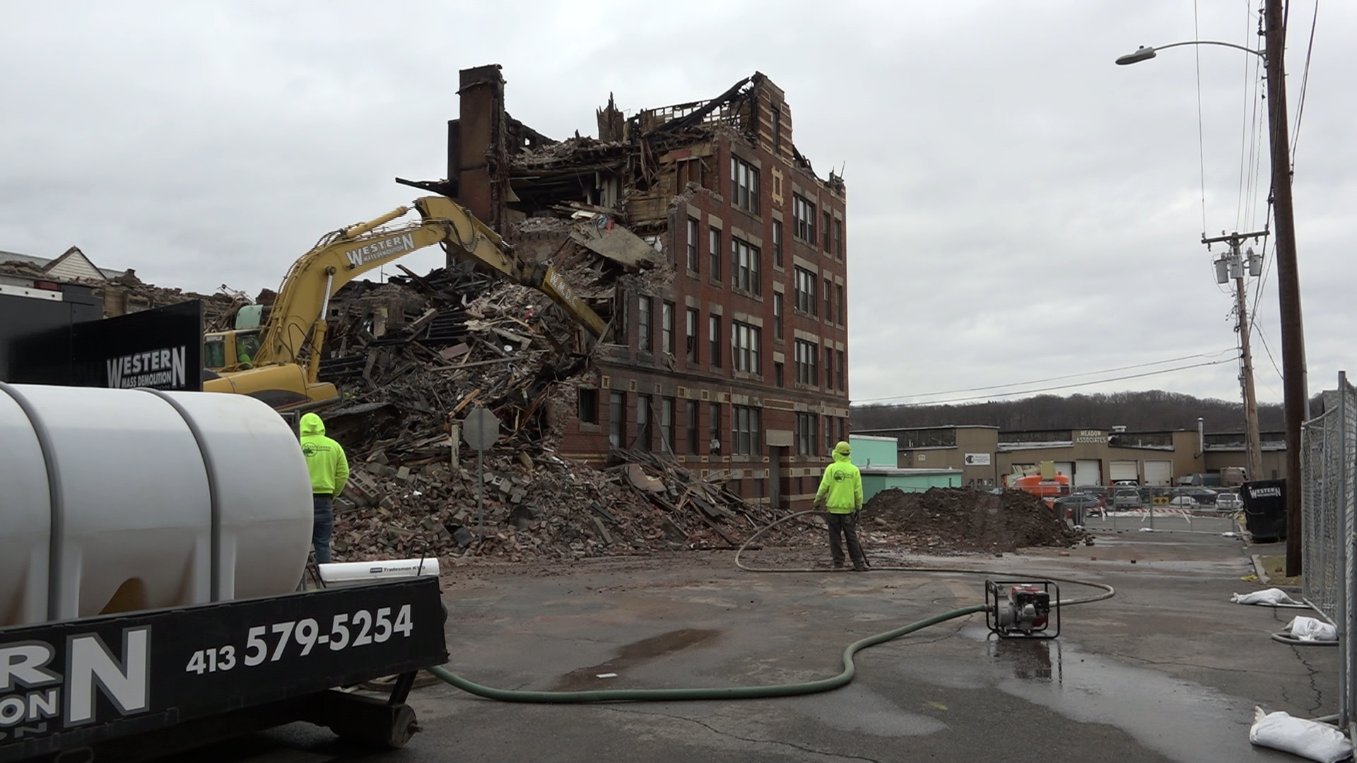 Residents & Mayor Alex Morse react to the January 1 multi-alarm fire in Holyoke, MA that destroyed an apartment building in the flats area of the city