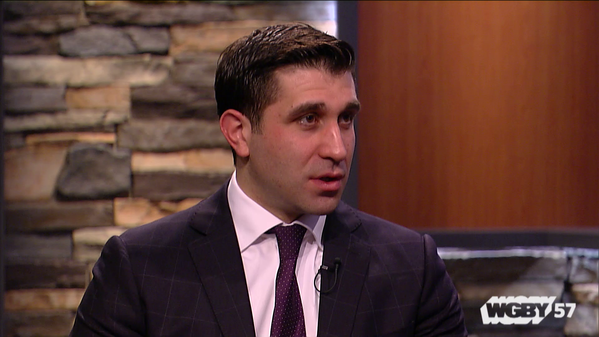"""Hampden County District Attorney Anthony Gulluni joins """"Connecting Point"""" to talk about his office's Stop the Swerve campaign. The campaign educates Hampden County high schoolers about the dangers of drunk or impaired driving through hands-on activities and contests to design PSAs and billboards for the program."""