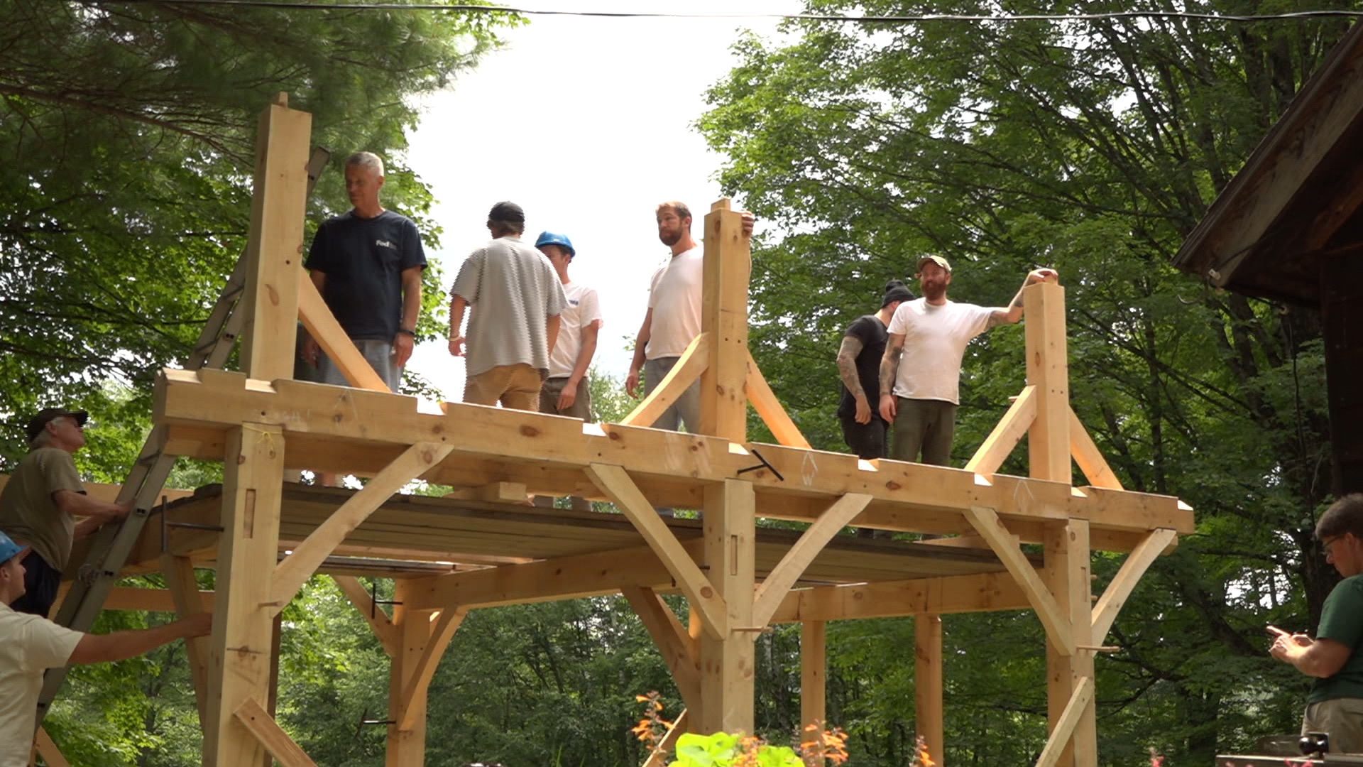 Washington, MA's Heartwood School has trained students in the art of timber framing, a critical part of home building and construction, for over 35 years.