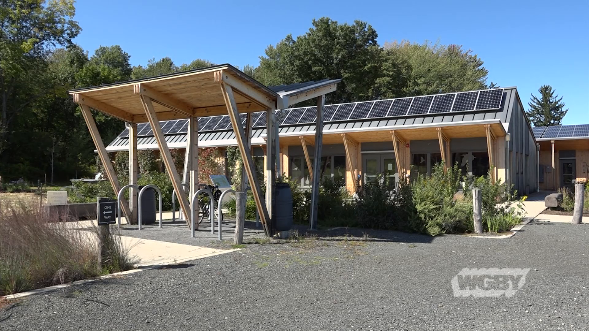 "Visit the Hitchcock Center for the Environment's newly opened, sustainable ""living building"" on West Street in Amherst, Mass."