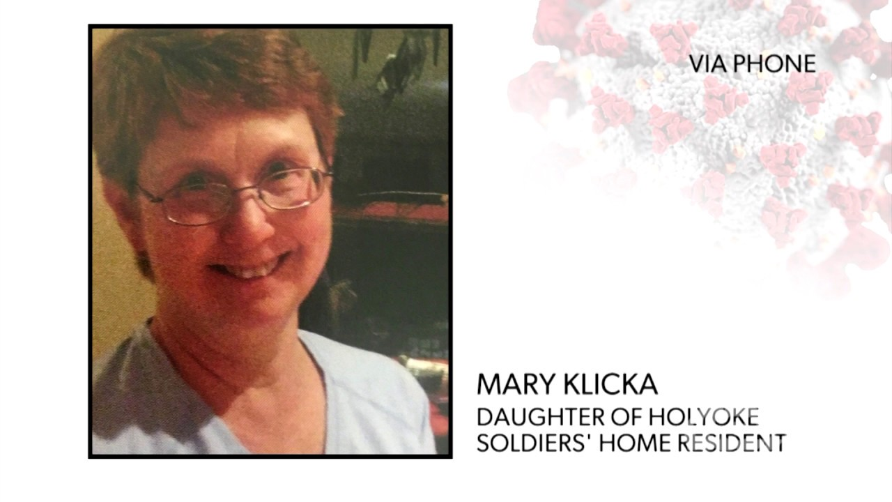 WATCH: Mary Klicka gives an update on her father, a resident of the Holyoke Soldiers' Home, in the wake of a COVID-19 outbreak at the Home.