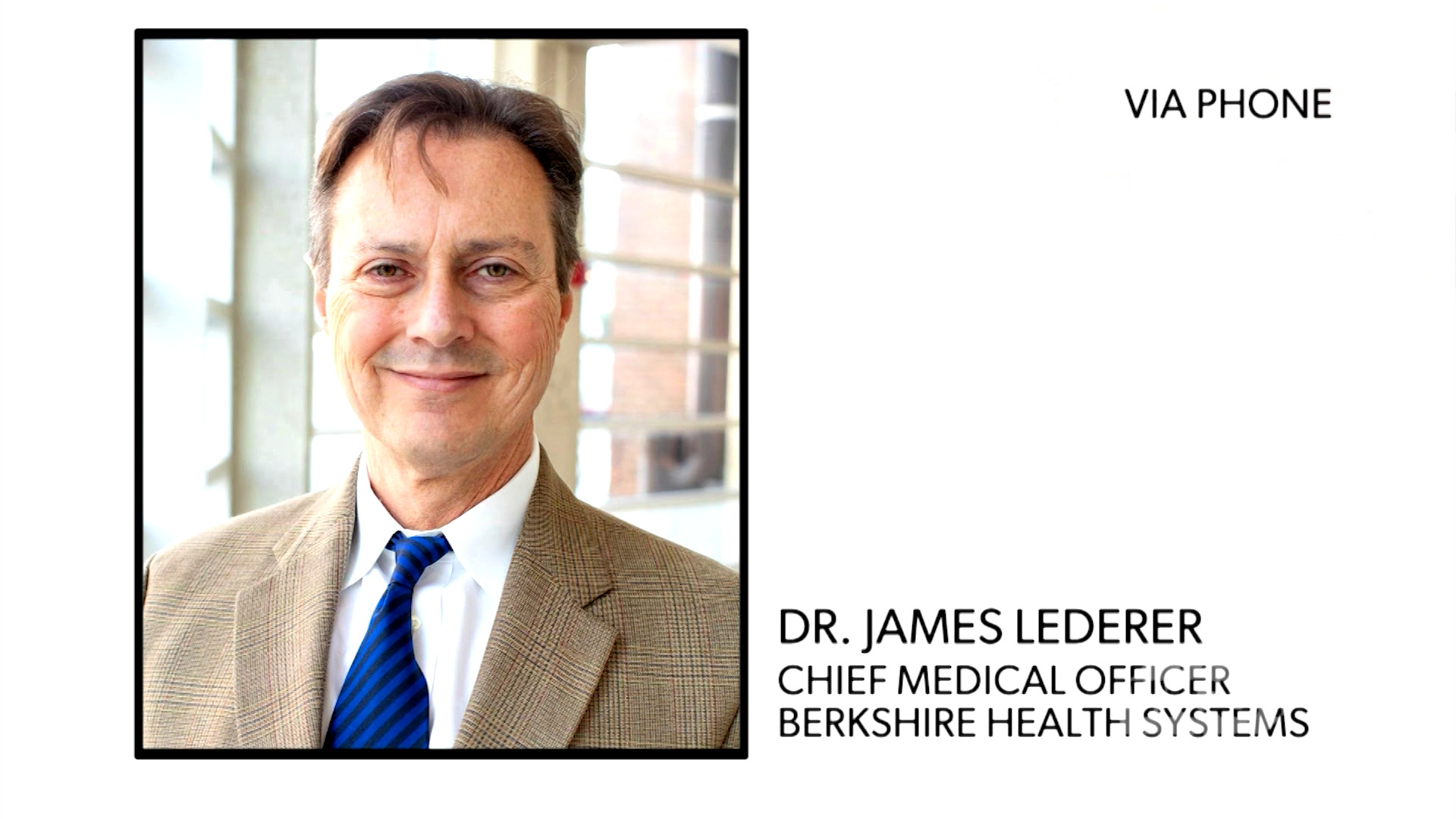 Berkshire Health Systems Chief Medical Officer Dr. James Lederer explains how the county's largest healthcare provider is dealing with COVID-19.