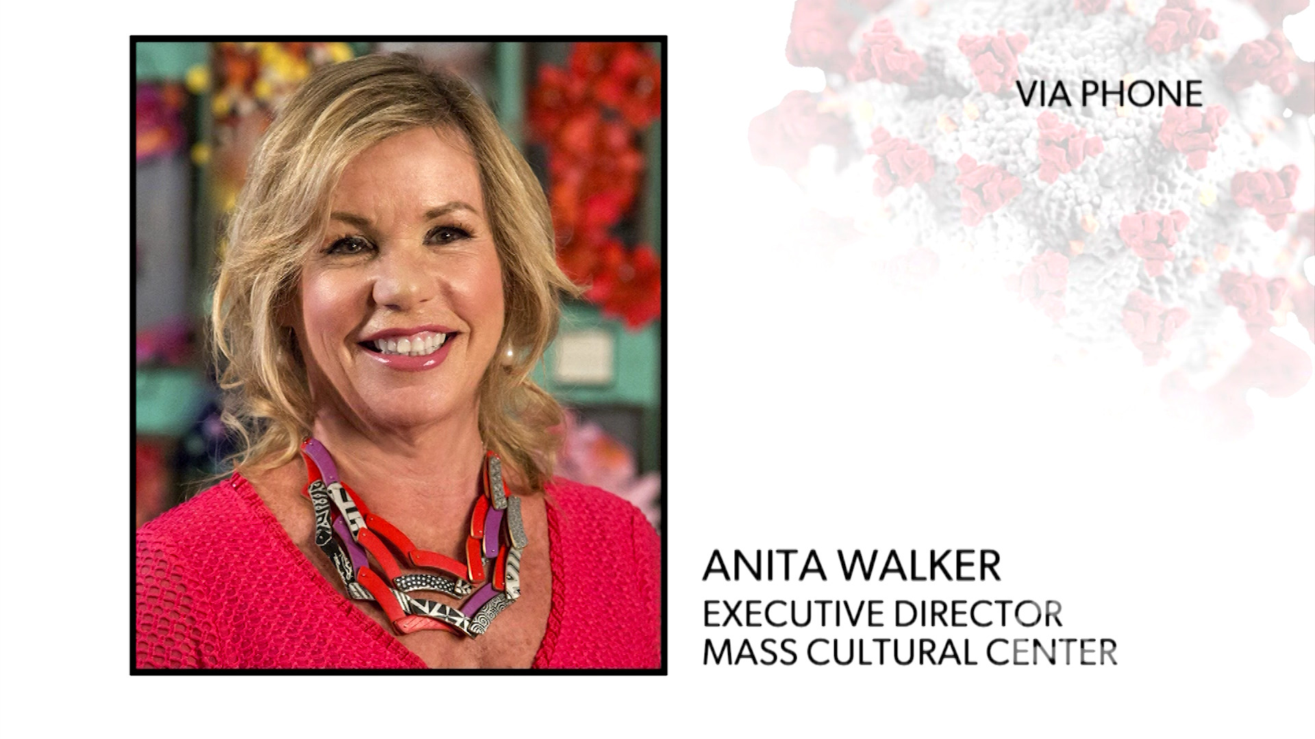 WATCH: Mass Cultural Council's Anita Walker discusses how COVID-19 impacts the arts, including the finanical implications.