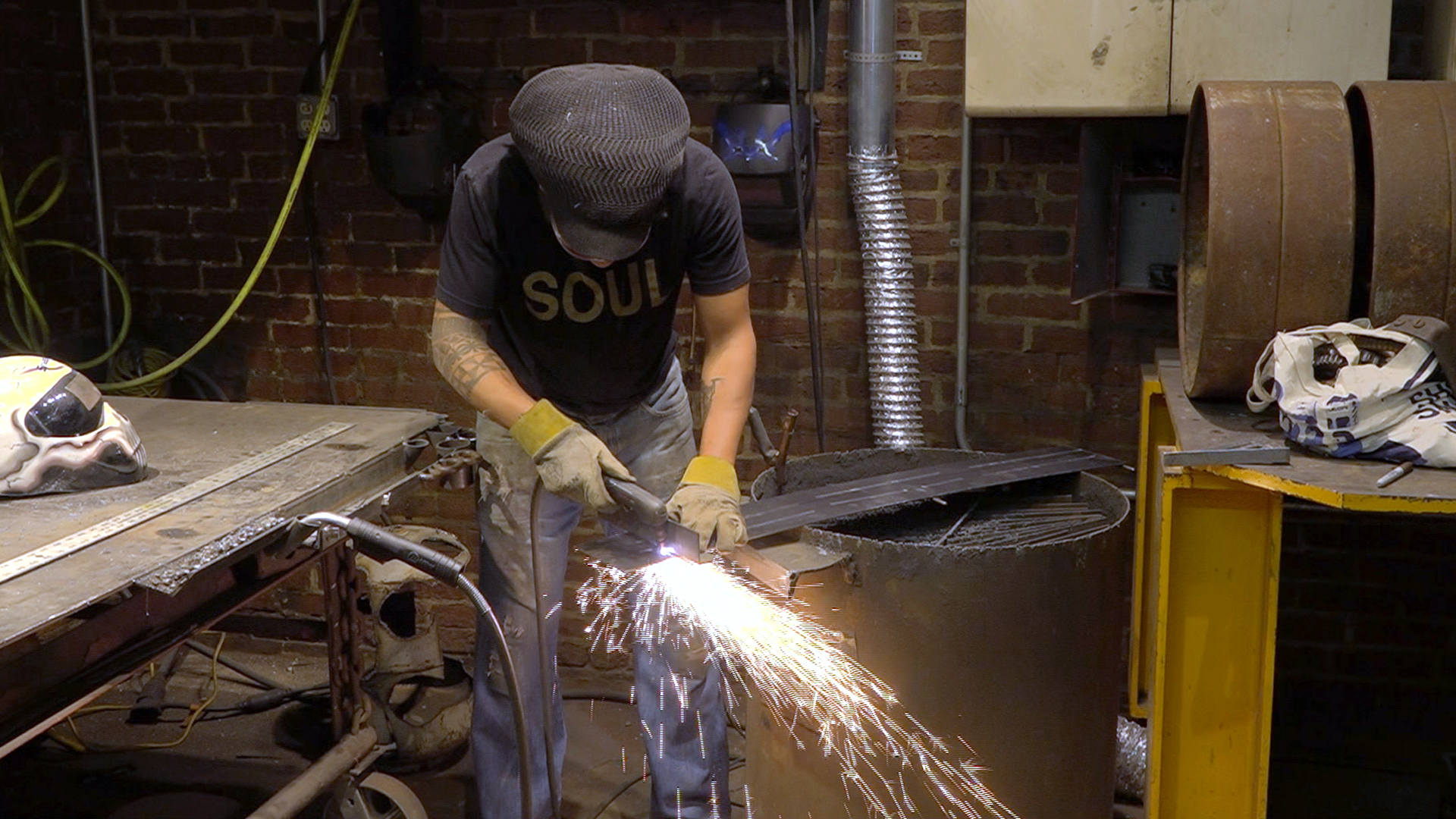 Visit metal sculptor & contractor Kamil Peters at Diesel Works in Holyoke, MA, where he brings trade training and career opportunities to people of color.