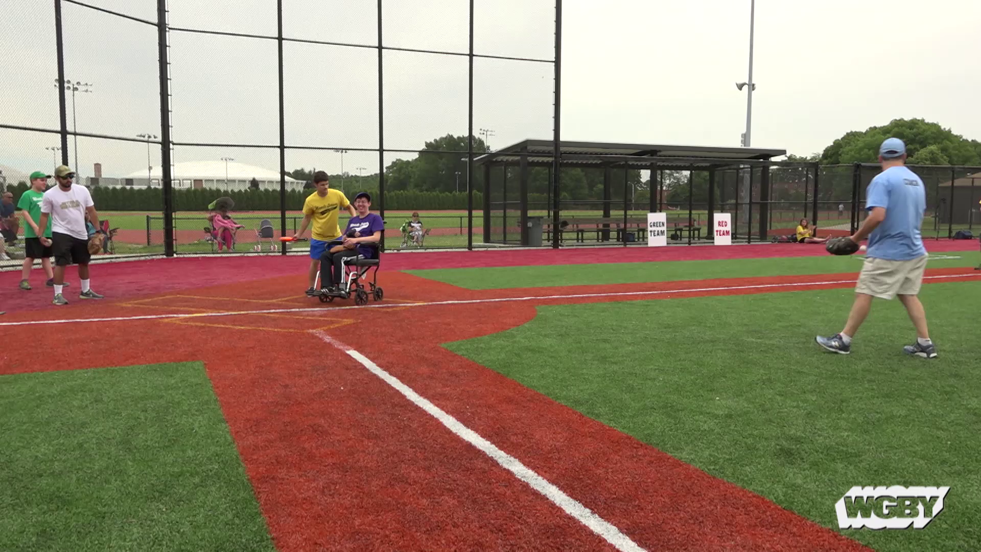 The Miracle League of Western Massachusetts was founded to provide children and adults of all abilities with the chance to play baseball. Thanks to the help of many volunteers, players take to the fields at Springfield College on Sunday mornings to engage in America's favorite pastime.