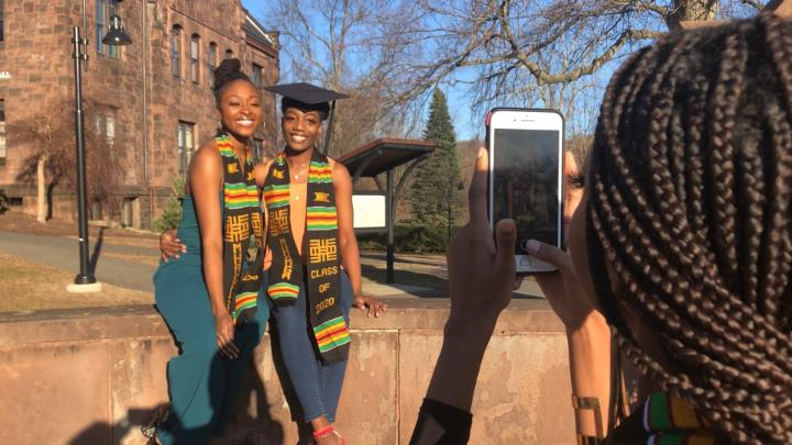 WATCH: Before leaving campus due to the coronavirus, a group of Mount Holyoke College students held their own graduation celebration.