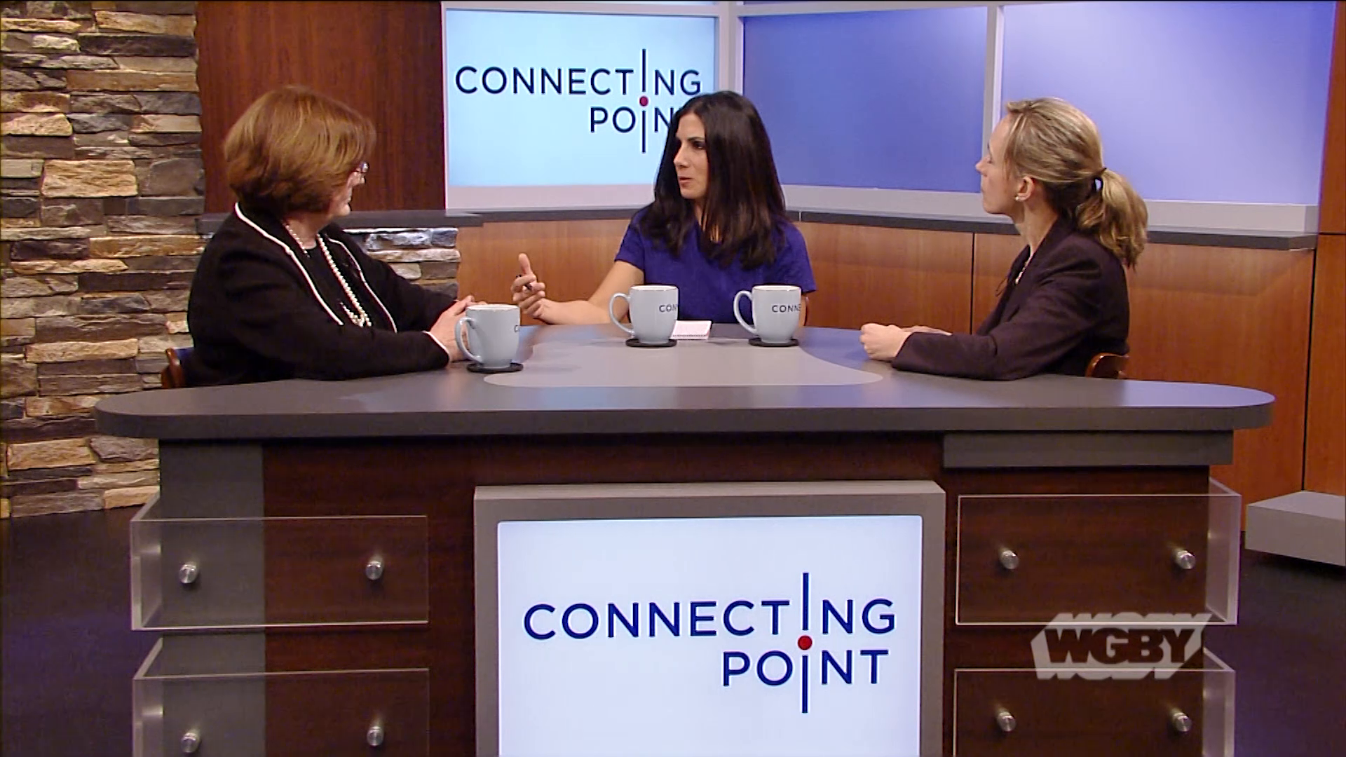 Connecting Point marks Human Trafficking Prevention month with Businesses Against Human Trafficking's Jen Falcone & YWCA's Elizabeth Dineen.