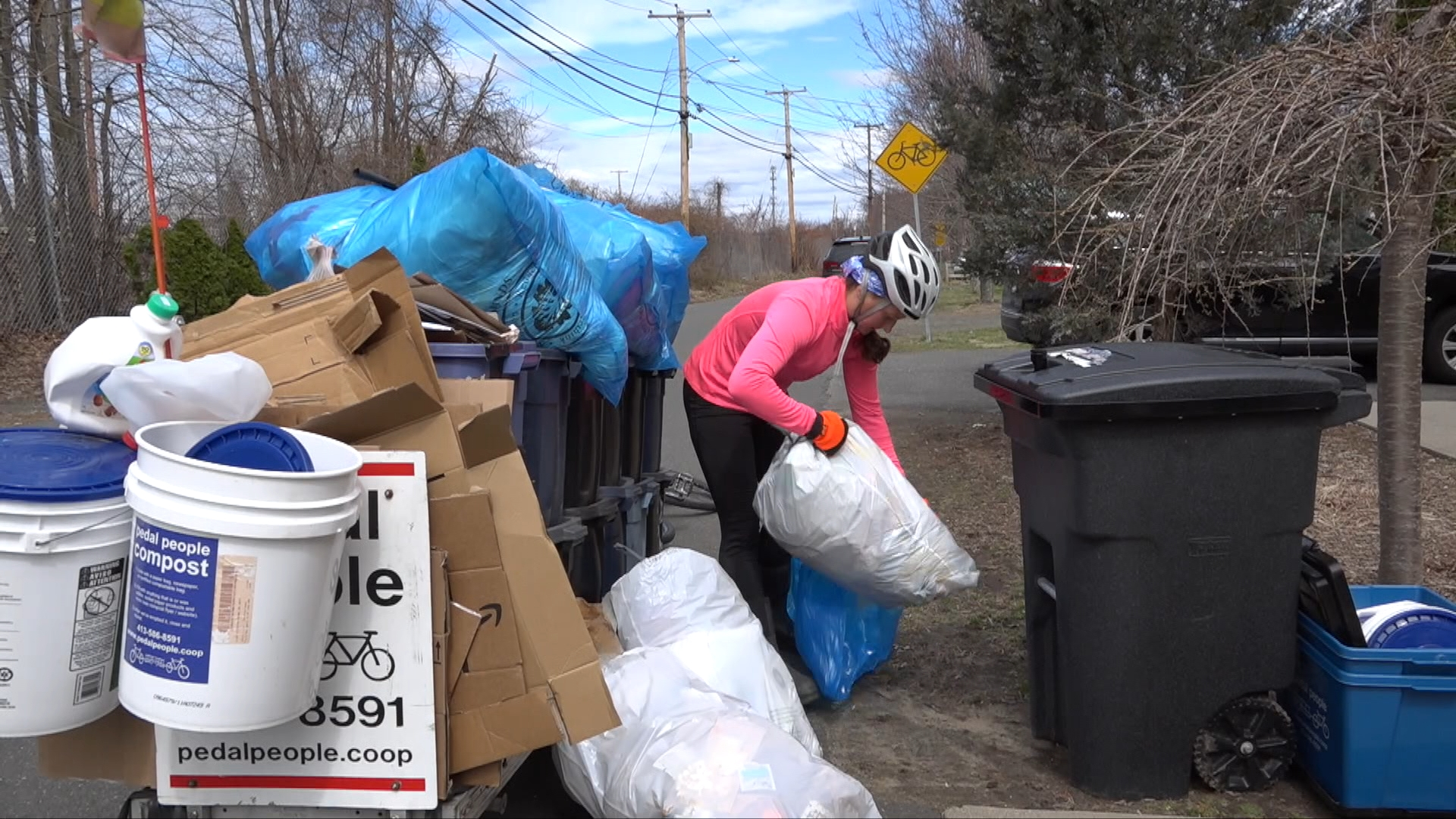 WATCH: Northampton's Pedal People are continuing to provide the community with trash and recycling services when most residents are sheltering in place.