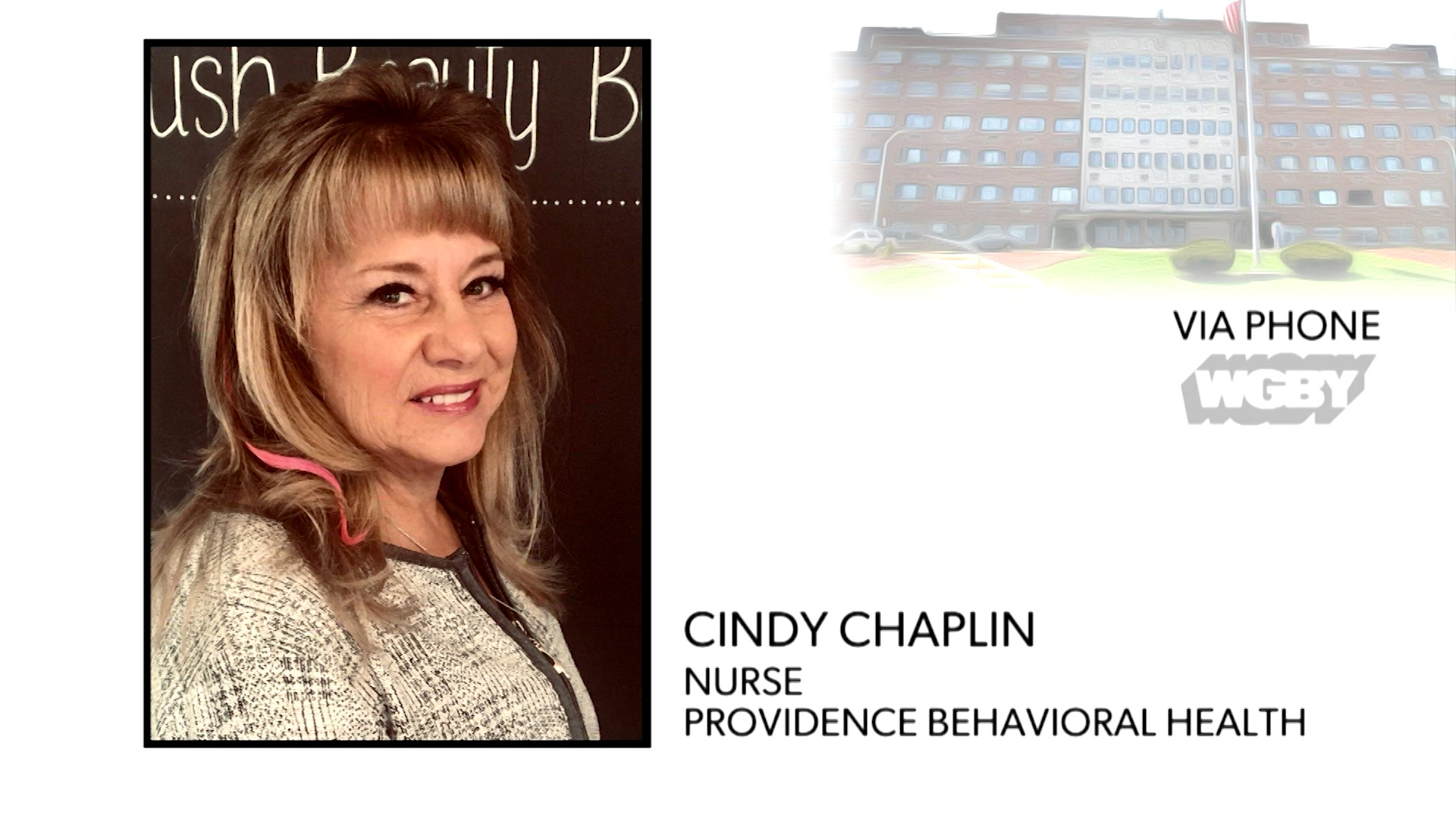 WATCH: Nurse Cindy Chaplin talks about the suspension of inpatient psychiatric services at Providence Behavioral Hospital.