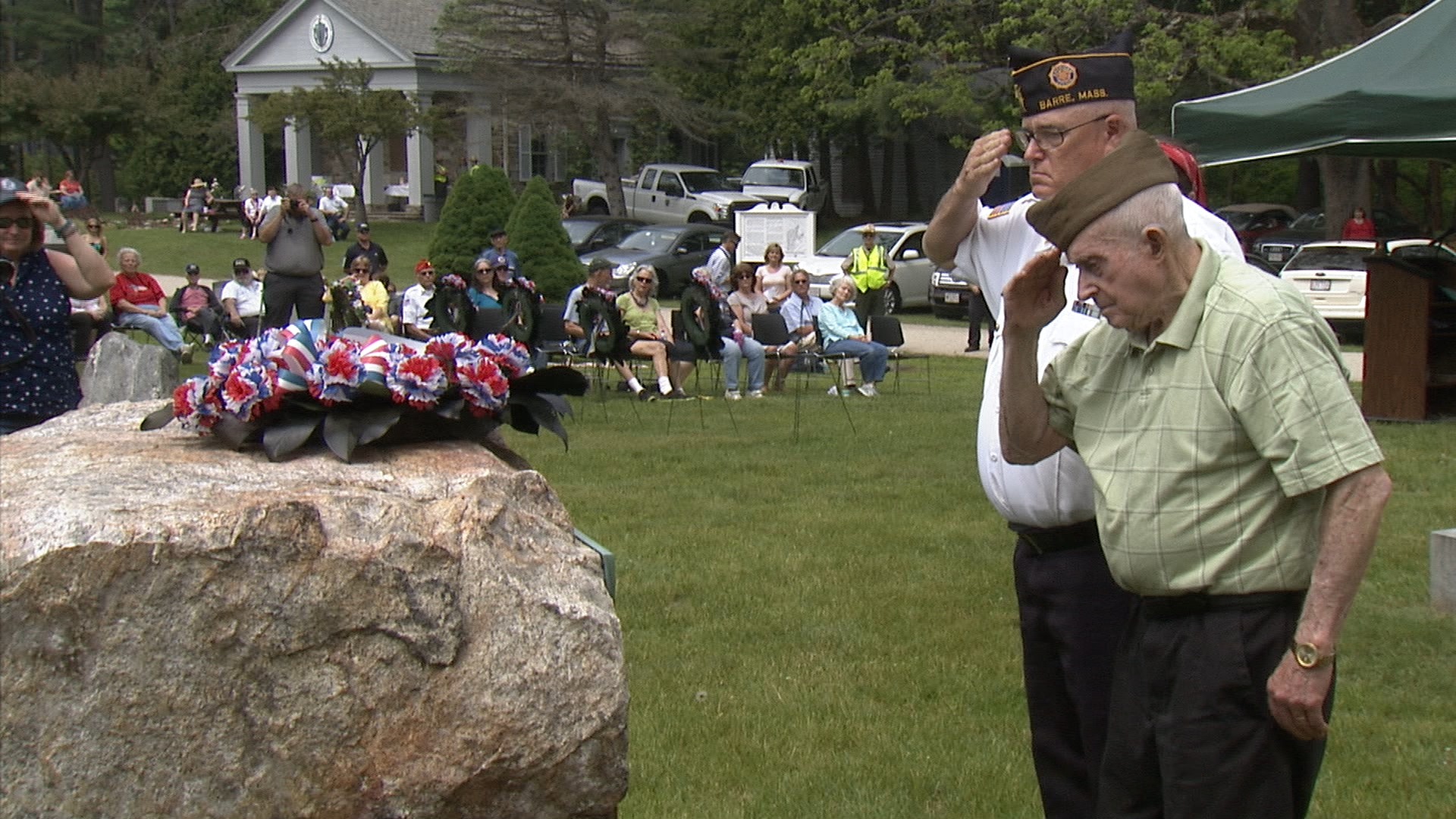 Quabbin Park Cemetery holds a Memorial Day ceremony each year not only honor the war dead, but also the the four towns flooded by the Reservoir.