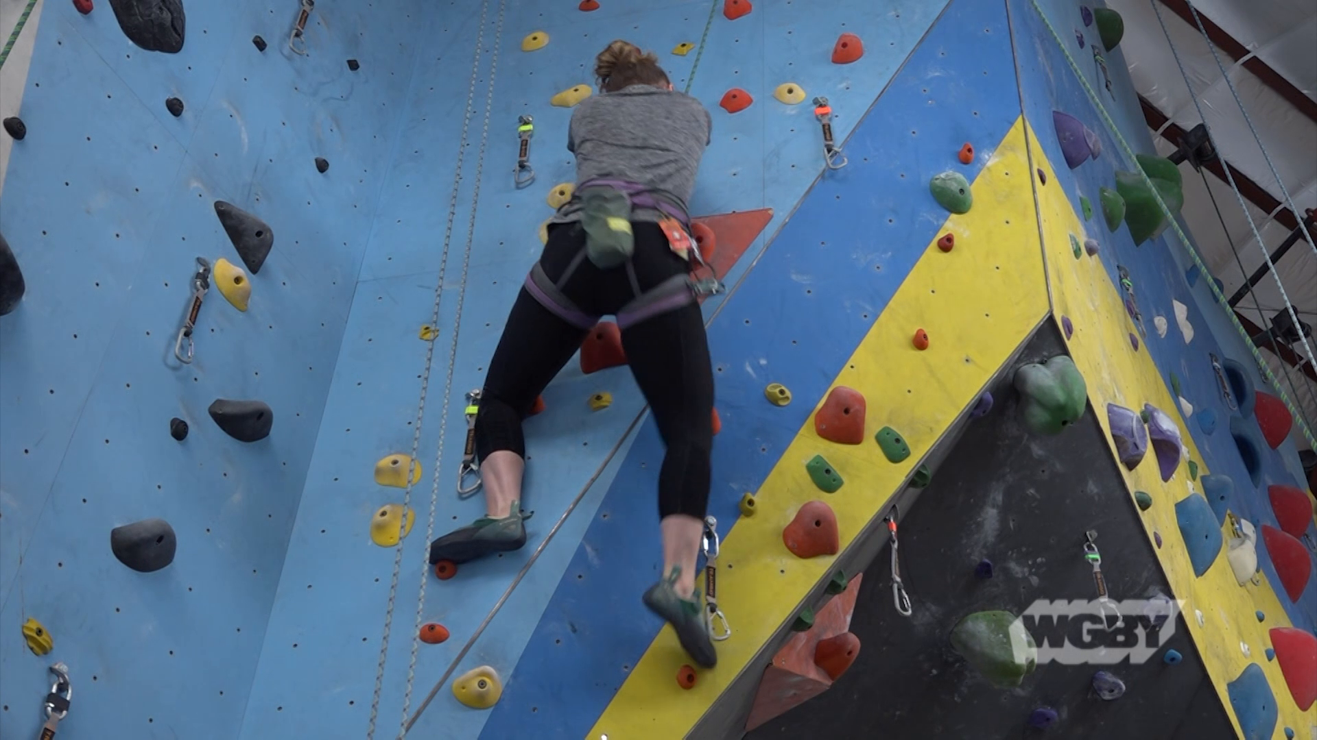 Grab a carabiner and head to Central Rock Gym in Hadley, MA, a local rock-climbing gym founded by brothers Ed & Joe Hardy.