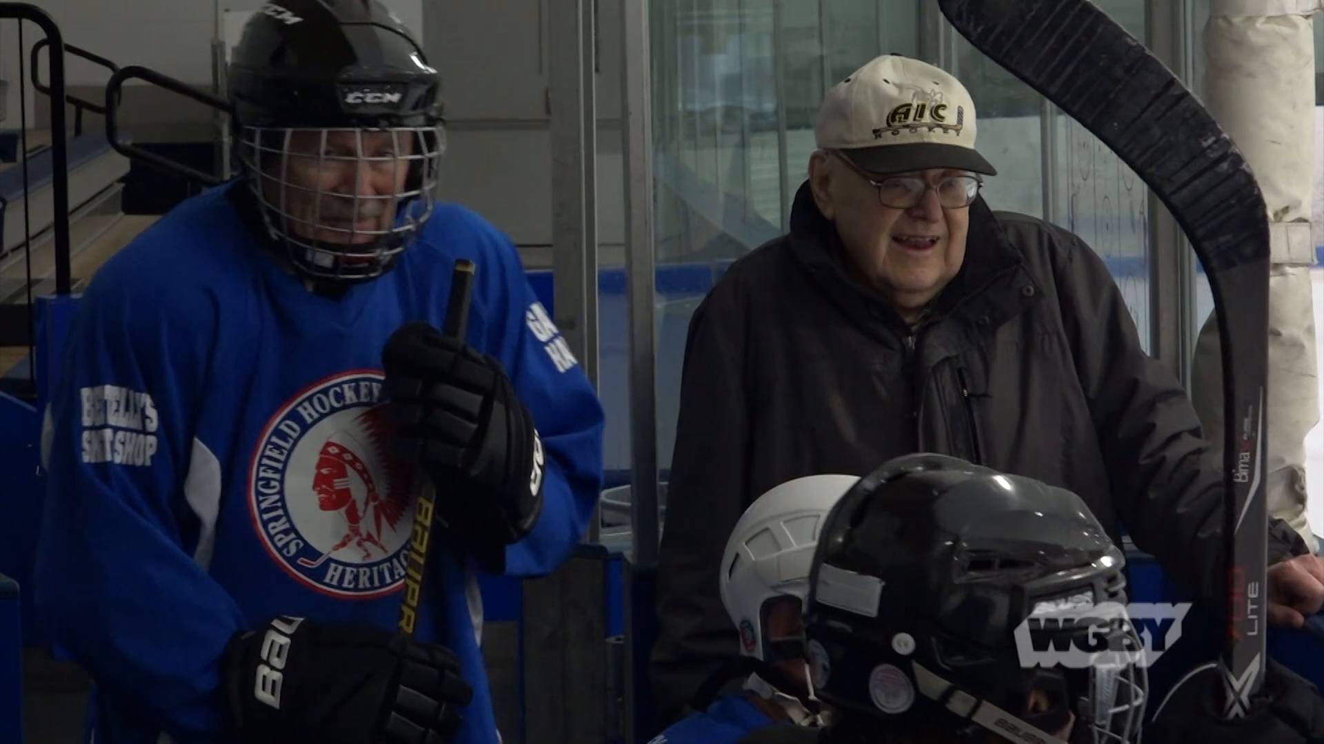 Hit the ice with the senior hockey team, made up of 60-70+ year old western Mass locals who will compete at the Mass. Senior Games this summer.