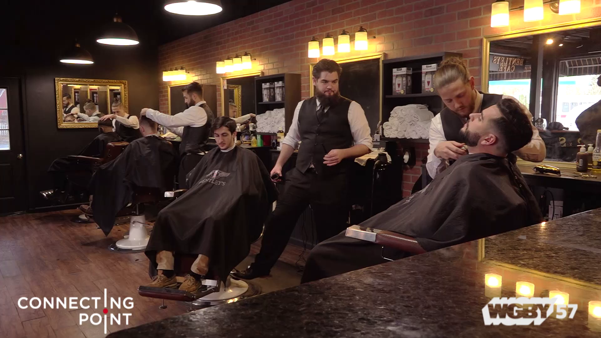 Evan Nyman founded Bentley's Barbershop in Springfield, MA with a goal of changing the perception of your typical barbershop. His barbers, dressed in three-piece black suits, set the bar high, but their commitment to a high-class experience doesn't end there.