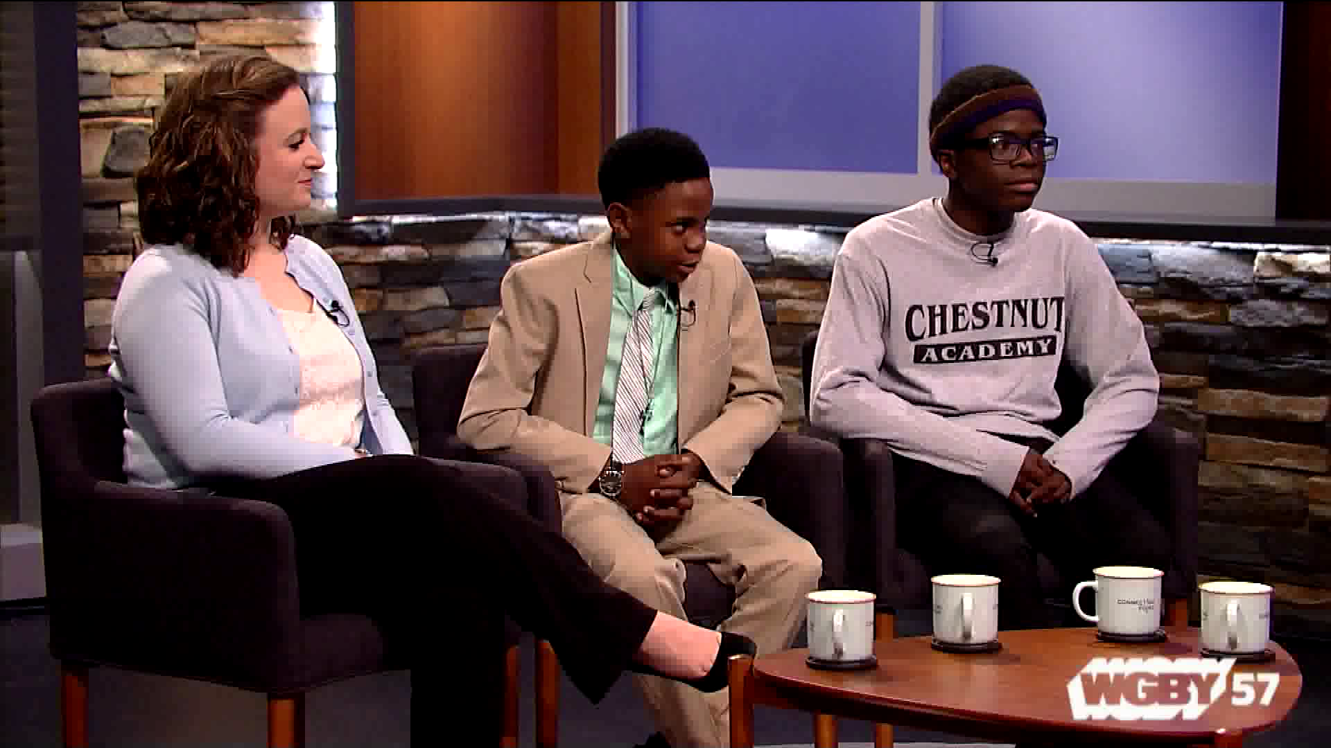 A partnership between Junior Achievement and Chestnut Academy in Springfield, MA encourage student entrepreneurship and business skills through a Shark Tank-like competition and other activities. Connecting Point speaks with two students who are already positioning their products to hit the market.