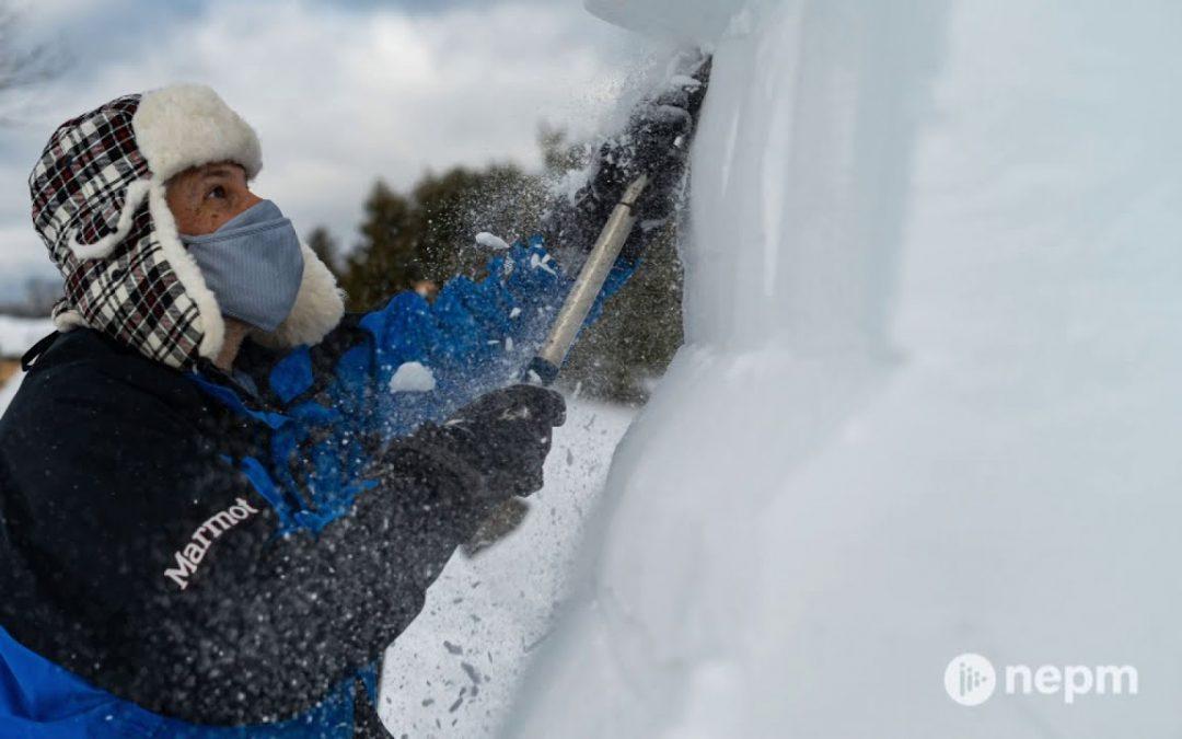 Snow Sculptor Dave Rothstein Crafts His Latest Work