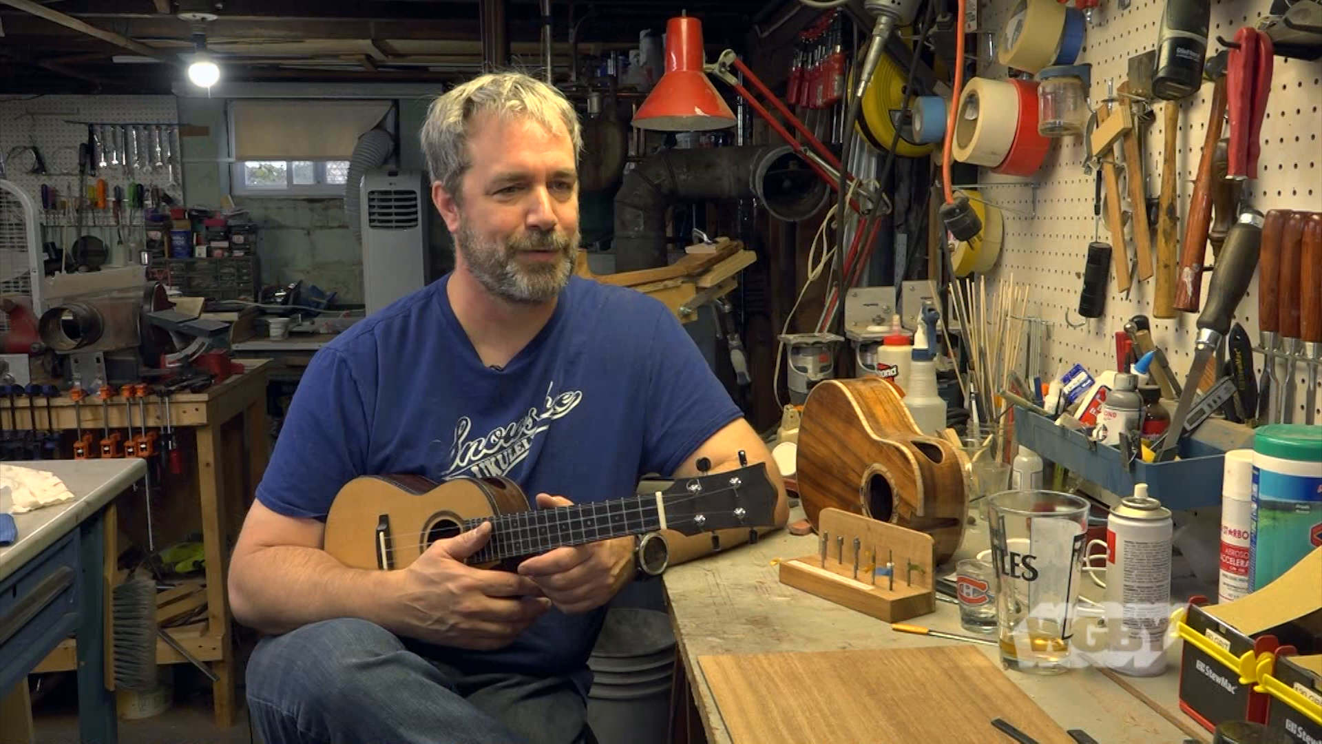 Meet Stephen Beauregard, a guitar maker who fell in love with the ukulele and now creates hand-crafted ukuleles at his Snowshoe Ukulele Company.