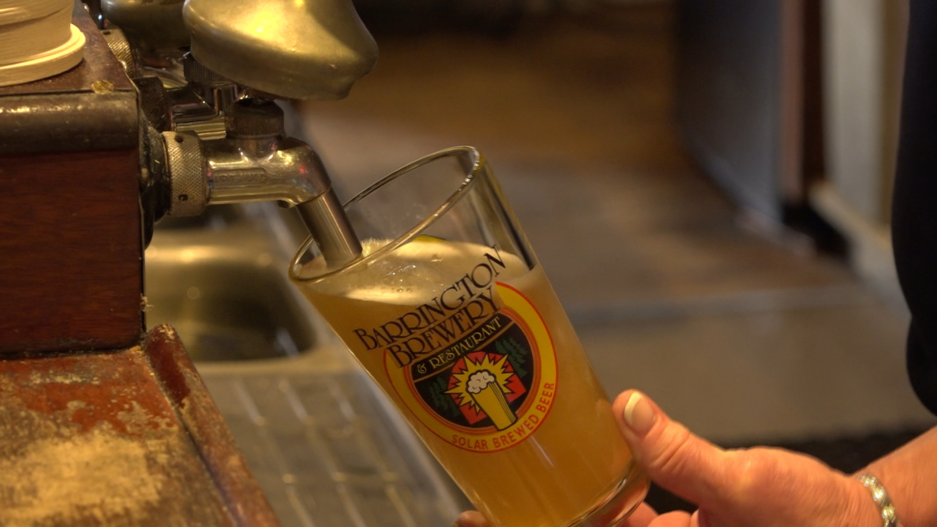 The brewers at Barrington Brewery in Great Barrington, Mass are going green and using solar power to produce a variety of tasty ales and lagers.
