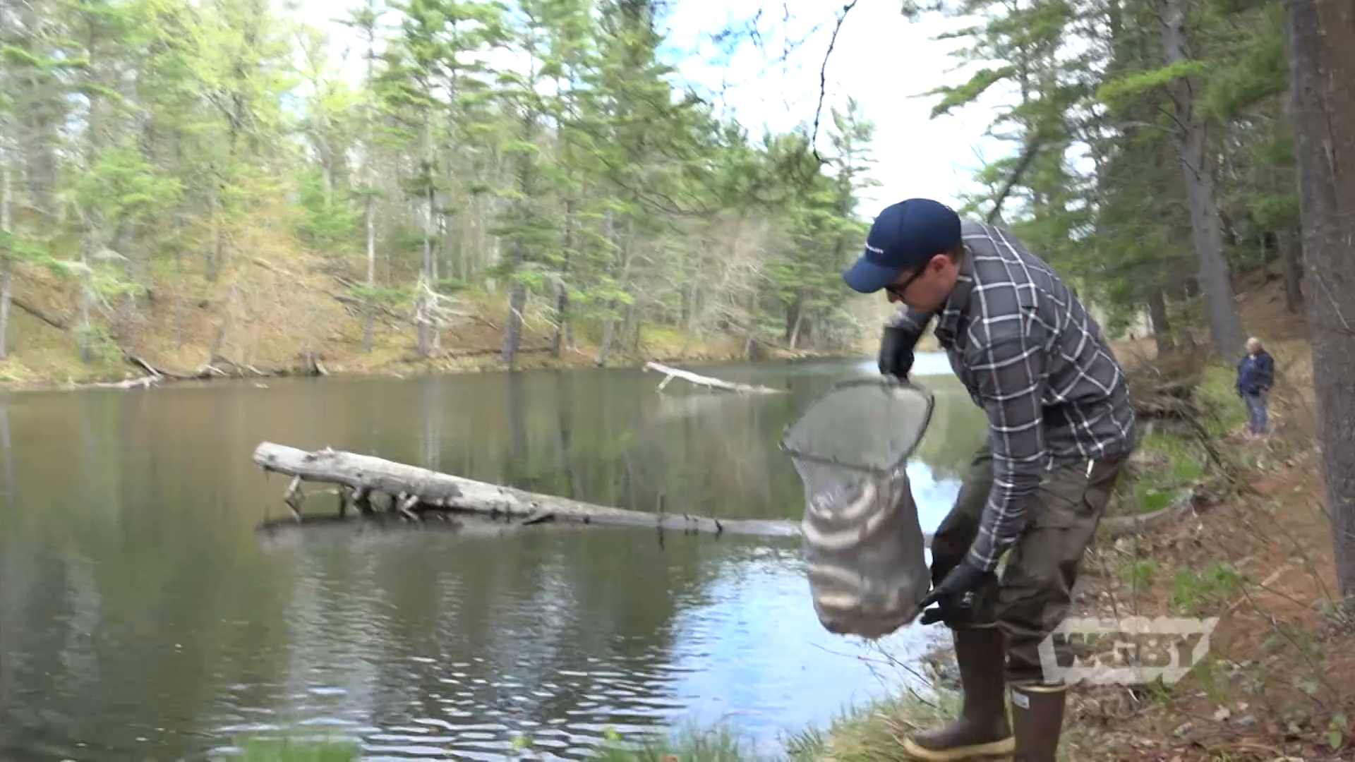 """""""Hook"""" up with Mass Wildlife trout stock crew as they replinish the fish supply in local waterways along the Connecticut River."""