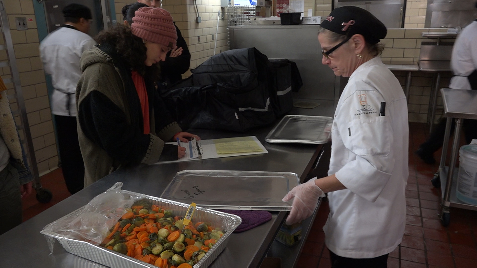 The student-led UMass Amherst Food Recovery Network takes leftover, un-eaten food from the campus dining halls to an Amherst homeless shelter.