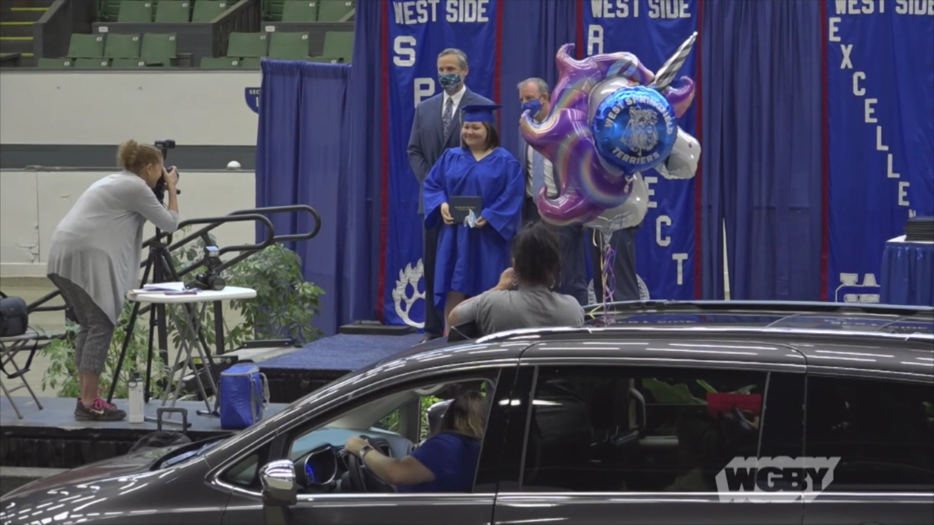 WATCH: West Springfield High School put a new spin on the traditional Big E Coliseum graduation and honored the class of 2020 with a drive thru ceremony.