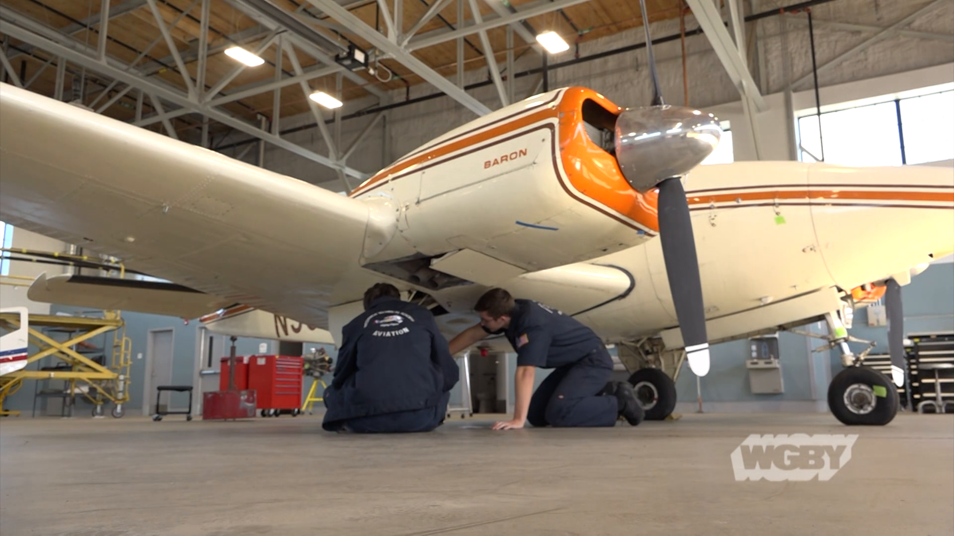 Graduates of the Westfield Technical Academy Aviation Program receive hands-on-training and an FAA certification that allows them to work on aircraft.