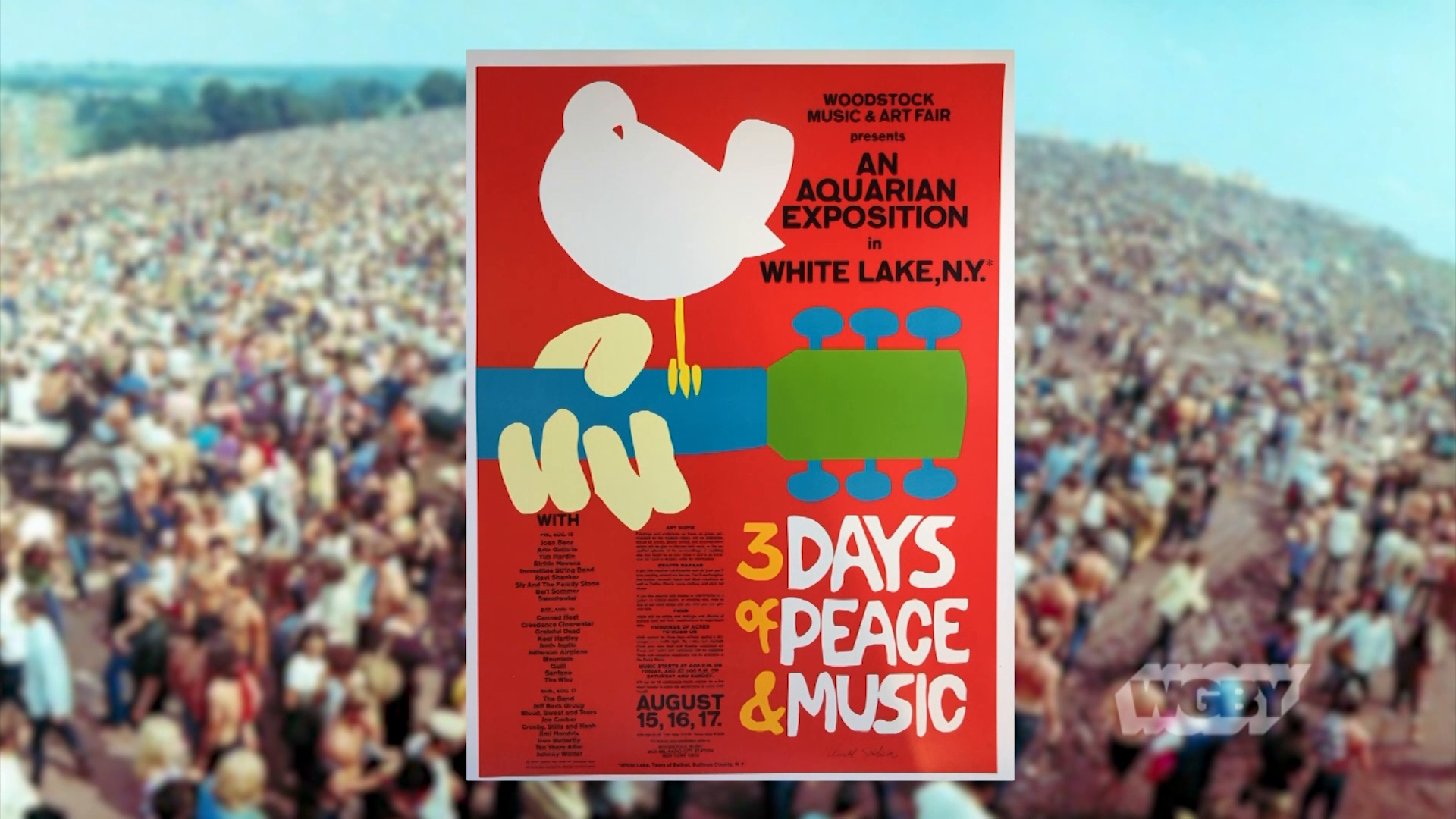 Artist Arnold Skolnick is responsible for an inconic piece of Americana— the Woodstock poster with a bird sitting on the neck of a guitar.