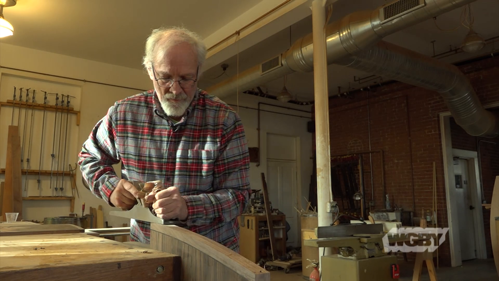 Woodworker and fine furniture maker Silas Kopf crafts world-class, Renaissane-style marquetry in his Easthampton, MA studio.