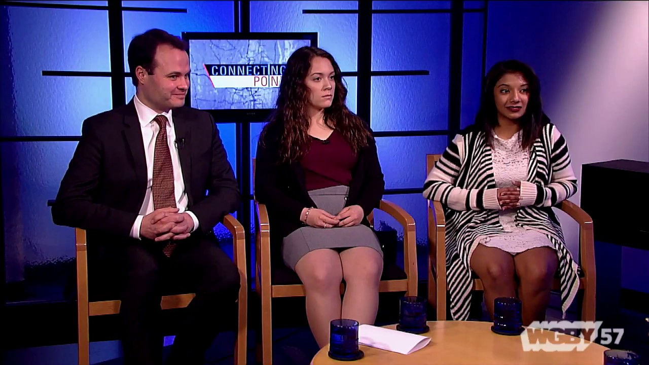Students Kristina Tadeo & Juhi Dasrath and Sen. Eric Lesser discuss the Student Loan Bill of Rights, making college more affordable for MA students.
